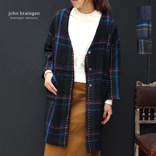 【2018秋冬】jhonbraniganジョンブラニガンV-COATノーカラーコートニットコートセーターground服アウター ポイント5倍