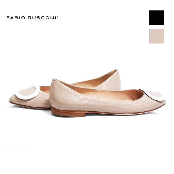 FABIORUSCONIファビオルスコーニS-3441オーバルモチーフフラットパンプスレディースシューズフォーマルオケージョンブラックベージュground靴 ポイント5倍