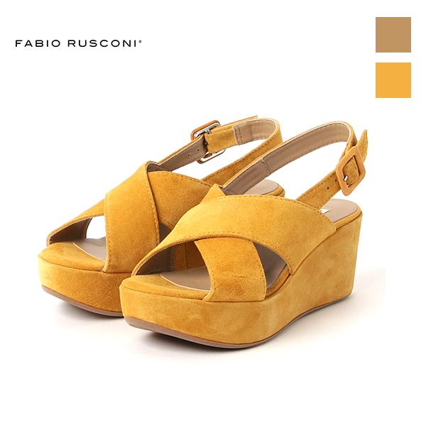FABIORUSCONI ファビオルスコーニ AKY210 クロスベルト 厚底 コルクソール サンダルground 靴 ポイント5倍