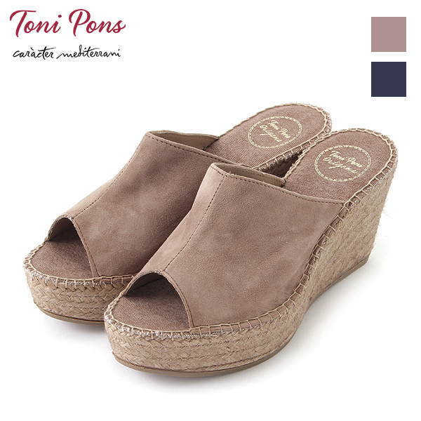 A Ground Pons Espadrille Sandals Lorena Suede GroundToni Tony q3jc54LAR