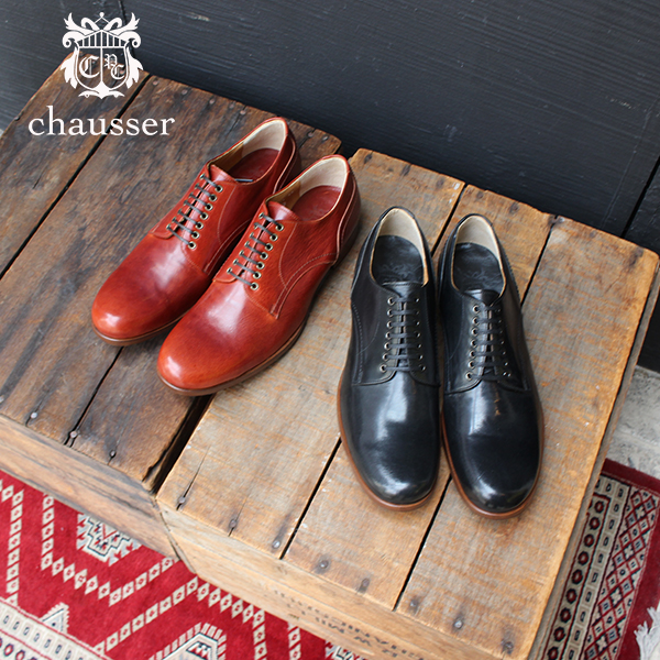 2019春夏chausserショセC-788プレーントゥレースアップシューズメンズ男性用革靴外羽根ブラウンブラックフォーマルground靴レザーシューズ2019春夏 ポイント5倍