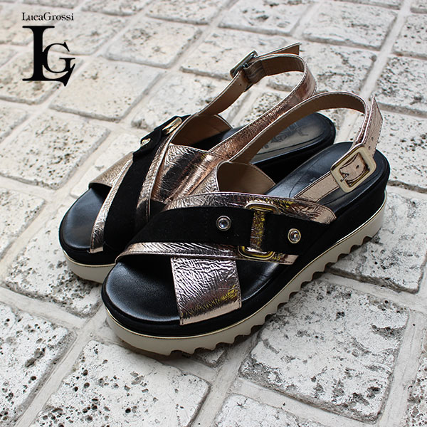 b0d67cc925ea8 E682S Bucks ring sandals platform sandals thickness bottom leather sandals  black metallic ground shoes 2019 spring and summer for the point 5 times ...