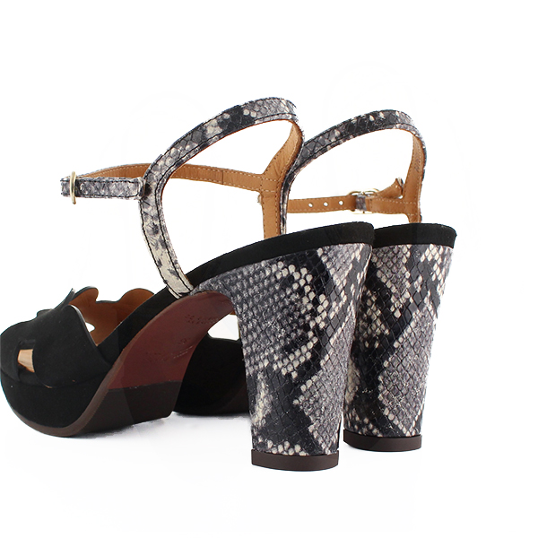 46d030d03f8 A coupon is targeted for ELIS strap sandals scallop shell ankle strike rack  CHIEMIHARA black python ground comment shoes shoes 2019 for the CHIE MIHARA  ...
