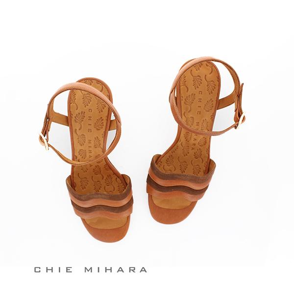 レディース サンダル チエミハラ BAOLA ストラップサンダル CHIE MIHARA ブラウン  ground 靴 母の日 クーポン対象