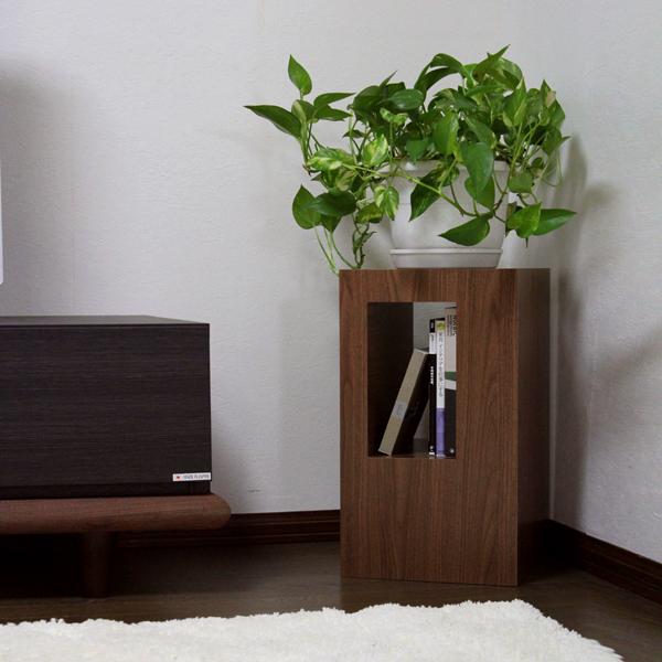商品名| グリーン スタンド D 観葉植物 台カラー| ナチュラル仕上げサイズ| 幅28 奥行28 高さ48cm主素材| 水に強い樹脂製プリント合板ナイトテーブル サイドテーブル フラワースタンド オフィス リビング収納