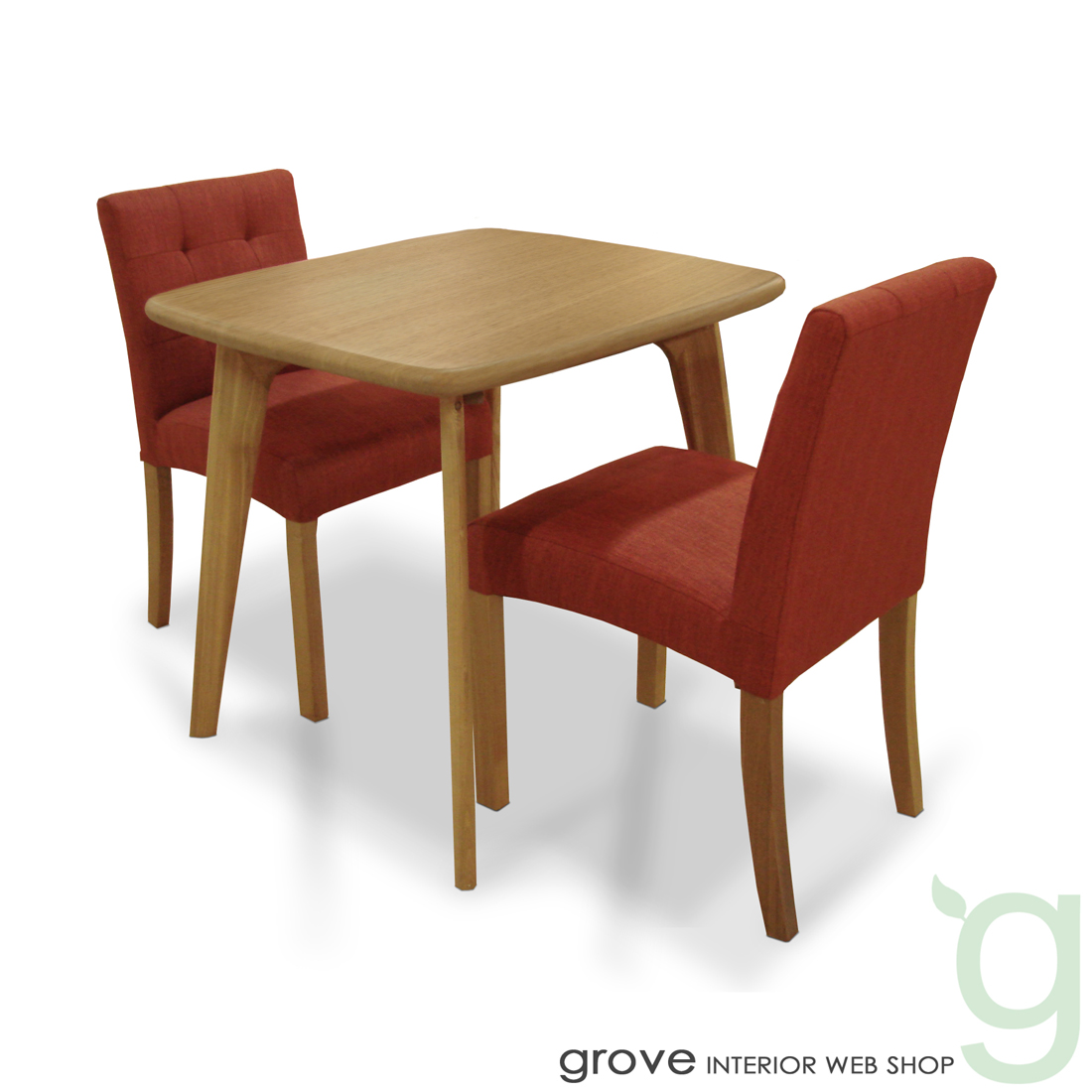 ■CL8 ダイニング3点セット■チェア張り地:レッド(赤)■テーブル幅80cmタイプ■送料無料■北欧家具 テイスト■北欧 モダン カントリー■木製テーブル 椅子 チェアー■リビングダイニング■食卓セット 食卓椅子 食卓テーブル