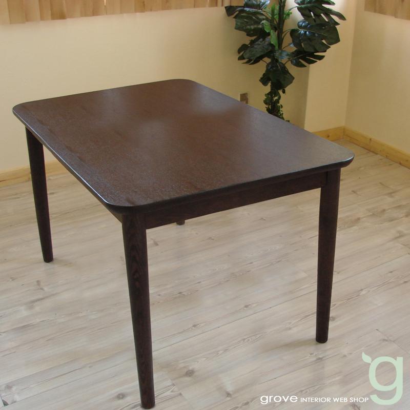 ■ダイニングテーブル■テーブル座高さ64cmのロータイプ■カラー:ダークブラウン■天然木フレームの食卓セット■北欧家具 テイスト■送料無料■groveセレクトアイテム