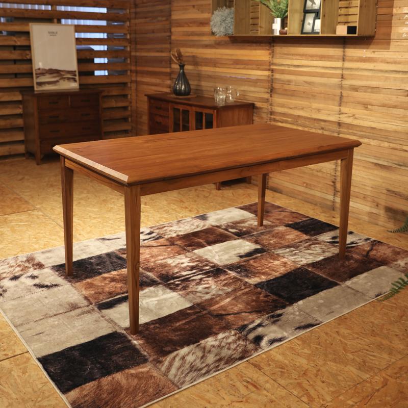 商品名|BELCO ベルコ ダイニングテーブルカラー| チーク レッドブラウン色サイズ| 幅 150 奥行80 高さ72cm 北欧テイスト ウレタン塗装