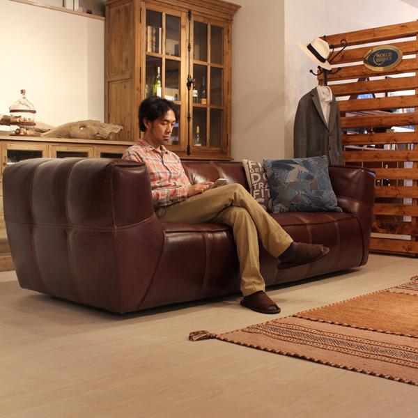 商品名| バートン ソファ 本革カラー| ダーク ブラウンサイズ| 幅 230 奥行98 高さ70cm主素材| 本革 木製 フレーム北欧 モダン ウェービングテープ 200cm 完成品 おしゃれ シンプル かっこいい