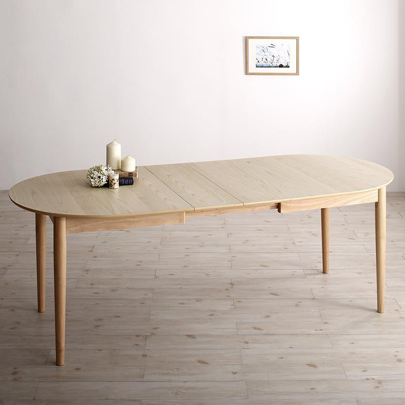 商品名| CNL 伸縮式ダイニングテーブル材 料| アッシュ突板/ラバーウッド無垢北欧テイスト ウレタン塗装 伸張式テーブル 伸縮式 エクステンションテーブル