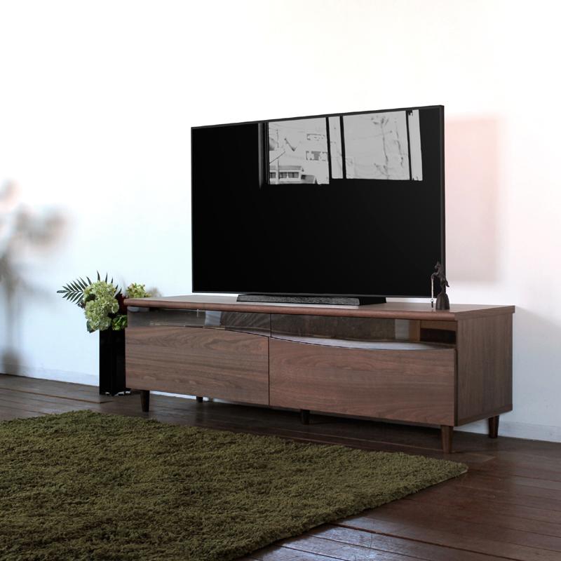 商品名| ESL テレビ台 160cm テレビボード ローボード 北欧 完成品カラー| ブラウン色 ウォールナットサイズ| 幅 160 奥44.5 高さ48.25cm生産国| 国産 日本製シンプル 北欧ローボード 収納付き 国産テレビ台 160センチ