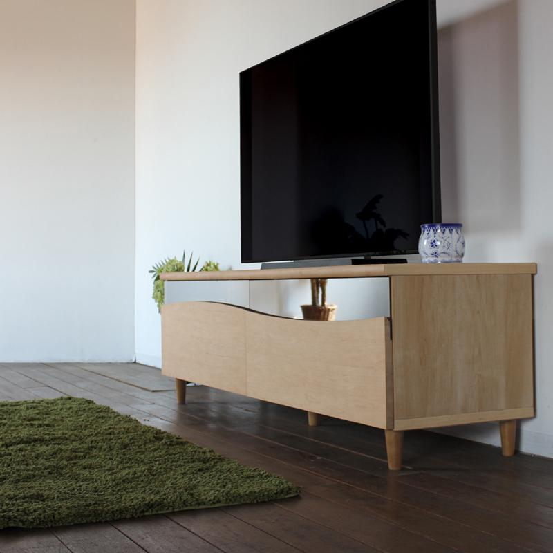 商品名| ESL テレビ台 130cm テレビボード ローボード 北欧 完成品カラー| ナチュラル メープルサイズ| 幅 130 奥44.5 高さ48.25cm生産国| 国産 日本製シンプル 北欧ローボード 収納付き 国産テレビ台 130センチ