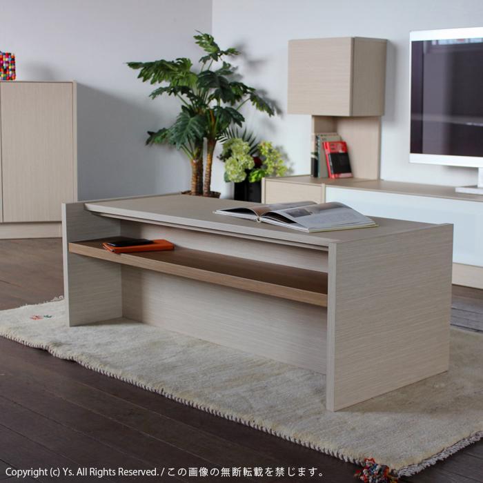商品名| ENT ローテーブル 120cm リビングテーブル 完成品カラー| レインクラウド オーク 色 木目 グレージュサイズ| 幅 120 奥行50 高さ42cm生産国| 国産 日本製木製 センターテーブル 北欧 スリム 薄型 リビング収納