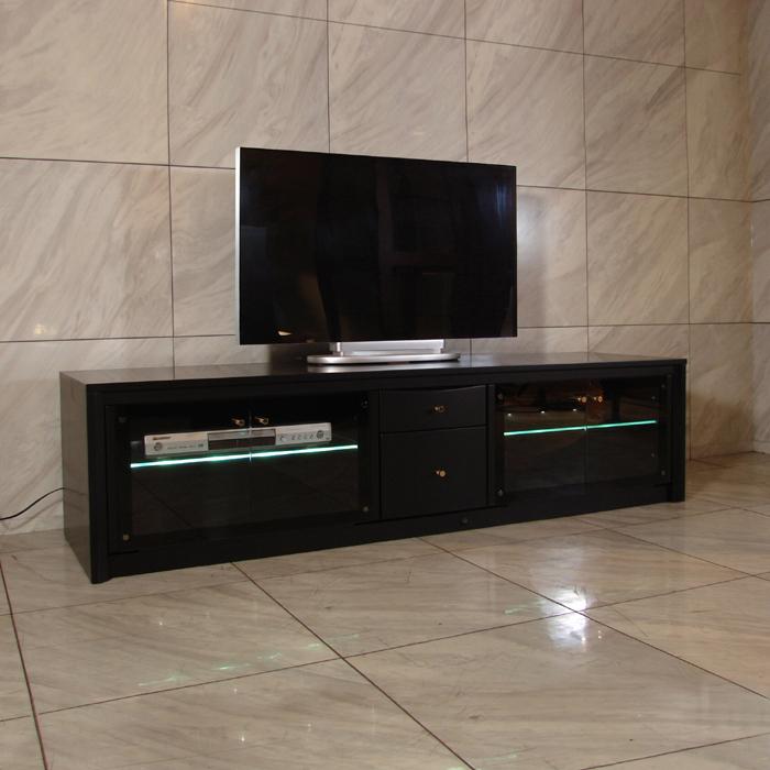 商品名  B.B. 160 cm テレビ台 ローボード光り輝くガラス棚が幻想的国産 テレビボードブラック TVボード液晶TV対応32インチ 42インチ 52インチ 対応国産 大川家具 契約工場 生産