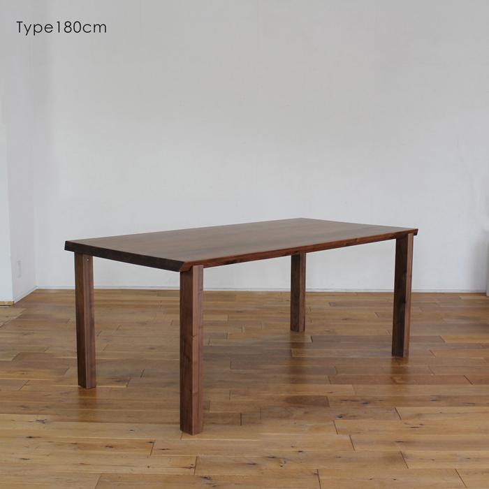 LIVWOOD商品名  アリエス1ダイニングテーブル180cmカラー  ブラウン ウォールナットサイズ  幅 1800 奥行 850 高さ 720 mm生産国  国産 日本製北欧 完成品 スタイリッシュモダンオイルまたはエコウレタン塗装仕上げ
