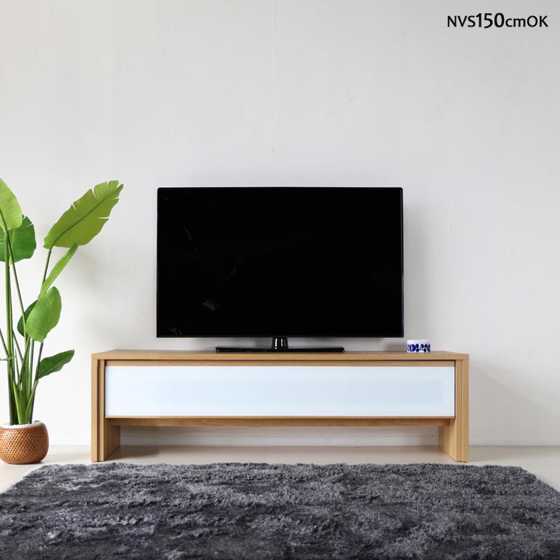 商品名| NVS テレビ台 150cm テレビボード ローボードカラー| オーク ナチュラル色サイズ| 幅 150 奥行45 高さ45cm生産国| 国産 日本製主素材| 硬質シート オーク 柄北欧ローボード 収納付きテレビ台 国産テレビ台 完成品テレビボード