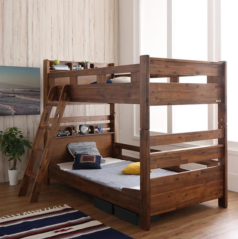 商品名  RDD 二段ベッド フレームのみモダンデザインサイズ  幅104.5 奥行210 高さ158.5cm分離式 2段ベッド大人も子供も長く使えるゲストハウス 民宿 民泊 社員宿舎 学生寮