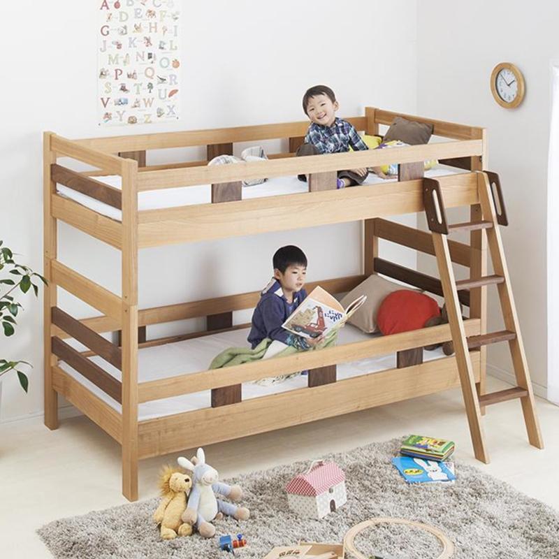 商品名| SLO 二段ベッド フレームのみモダンデザインサイズ| 幅103 奥行204 高さ150cmナチュラル分離式 2段ベッド大人も子供も長く使えるゲストハウス 民宿 民泊 社員宿舎 学生寮