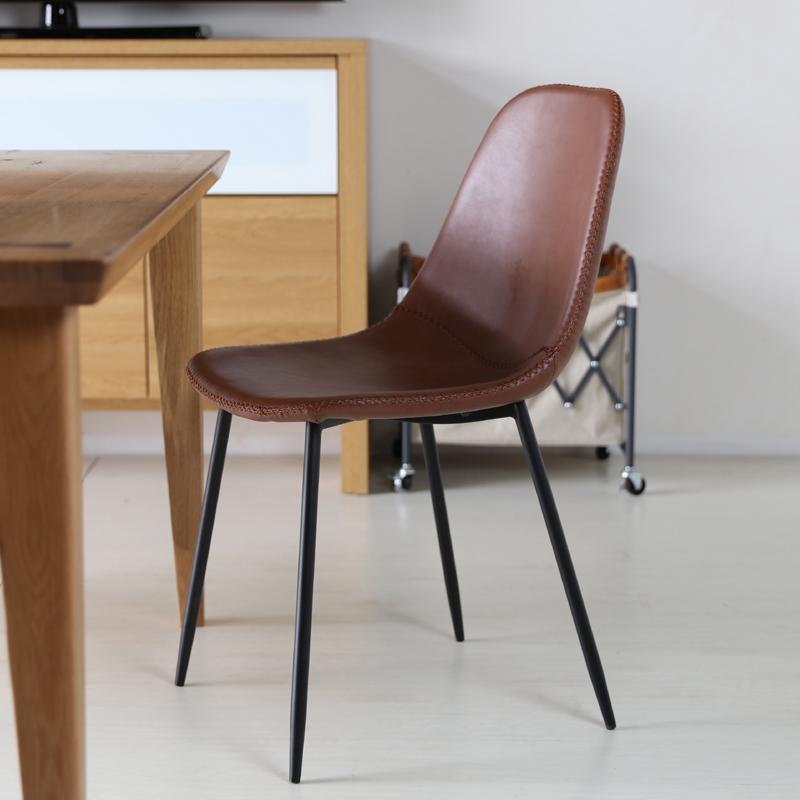 商品名| TCT デスクチェア材 料| スチール/ソフトレザー(ブラウン色)サイズ|幅43×奥行54×高さ80/座面高45cm組立式 北欧テイスト モダン 椅子おしゃれ 椅子 イス ワークチェアオフィスや書斎 学習チェア オフィスチェア テレワーク
