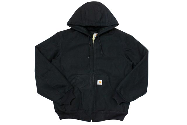 Carhartt DUCK ACTIVE JKT/QUILTED FLANNEL LINED (J140: BLACK)カーハート/フードダックジャケット/ブラック