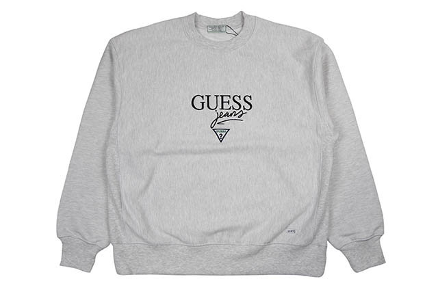 GUESS GREEN LABEL GUESS JEANS CREW SWEAT(GREY)ゲスグリーンレーベル/クルースウェット/グレー