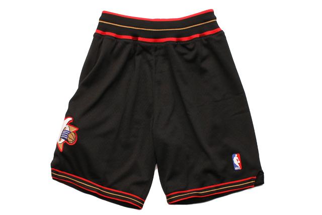 MITCHELL&NESS AUTHENTIC SHORTS(PHILADELPHIA 76ERS/1997-1998/BLACK)ミッチェル&ネス/バスケットボールショーツ/フィラデルフィアシクサーズ/ブラック