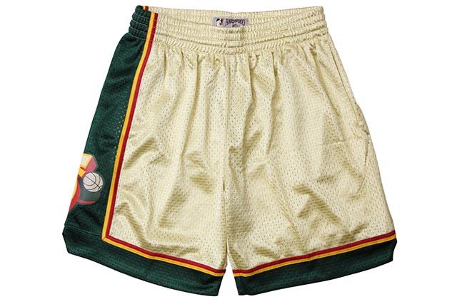 MITCHELL&NESS ROAD GOLD SWINGMAN MESH SHORTS(SEATTLE SUPER SONICS/95-96/GOLD)ミッチェル&ネス/バスケットボールショーツ/シアトルスーパーソニックス/ゴールド