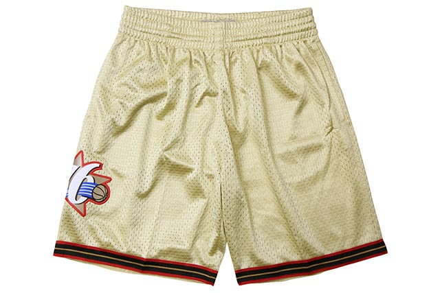 MITCHELL&NESS ROAD GOLD SWINGMAN MESH SHORTS(PHILADELPHIA 76ERS/97-98/GOLD)ミッチェル&ネス/バスケットボールショーツ/フィラデルフィアシクサーズ/ゴールド