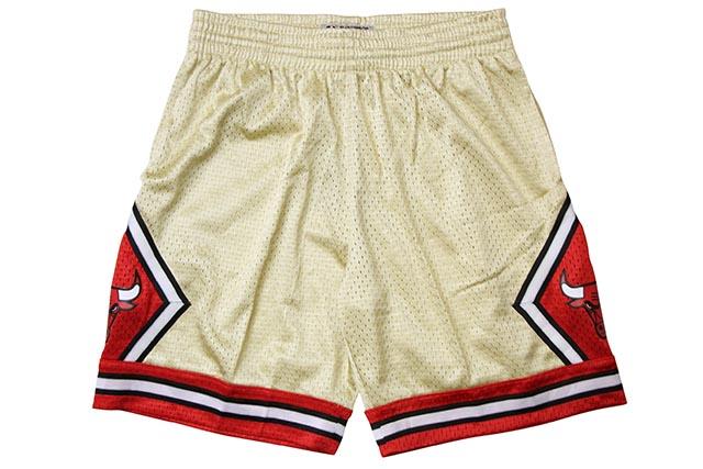 MITCHELL&NESS ROAD GOLD SWINGMAN MESH SHORTS(CHICAGO BULLS/97-98/GOLD)ミッチェル&ネス/バスケットボールショーツ/シカゴブルズ/ゴールド