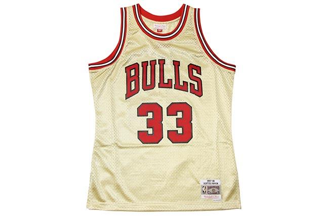 MITCHELL&NESS SCOTTIE PIPPEN ROAD GOLD SWINGMAN JERSEY(CHICAGO BULLS/97-98/GOLD)ミッチェル&ネス/バスケットボールジャージ/シカゴブルズ/ゴールド