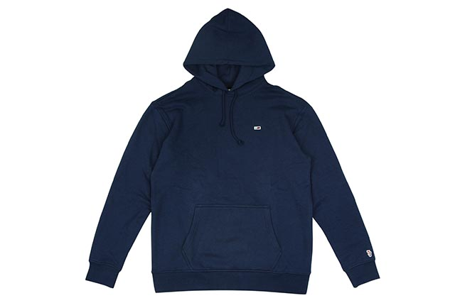 TOMMY JEANS ONE POINT HOODY(DM04468-002)(NAVY)トミーヒルフィガー/ワンポイントフーディー/ネイビー