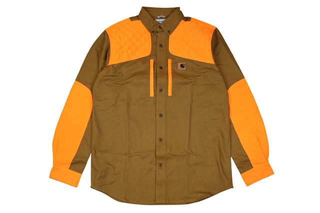 Carhartt UPLAND FIELD SHIRT (102870/211:Carhartt BROWN)カーハート/フィールドシャツ/ブラウン