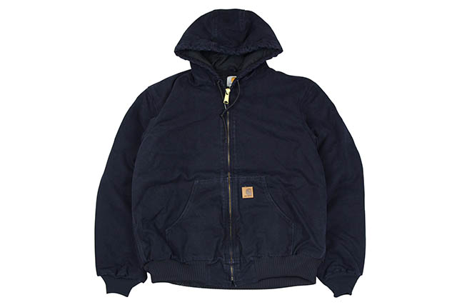Carhartt SANDSTONE QUILTED FLANNEL-LINED ACTIVE JACKET (J130:MDT/MIDNIGHT)カーハート/ダックジャケット/ミッドナイト