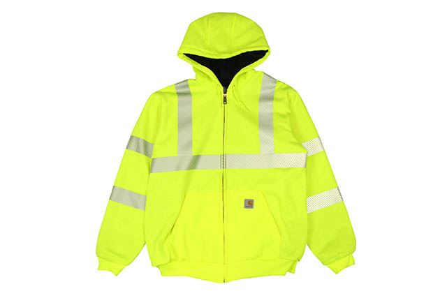 Carhartt HIGH-VISIBILITY ZIP-FRONT CLASS 3 THERMAL-LINED SWEATSHIRT (100504/323:BRIGHT LIME)カーハート/ジップフーディー/ブライトライム