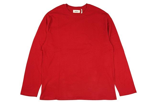 FOG FEAR OF GOD ESSENTIALS L/S T-SHIRTS(RED)フォグフィアーオブゴッド/ロングスリーブティーシャツ/レッド