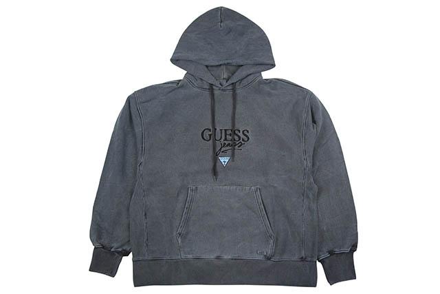 GUESS GREEN LABEL GUESS JEANS HOODY(BLUE BLACK)ゲスグリーンレーベル/プルオーバーフーディー/ブルーブラック