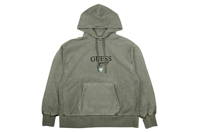 GUESS GREEN LABEL GUESS JEANS HOODY(KHAKI)ゲスグリーンレーベル/プルオーバーフーディー/カーキ