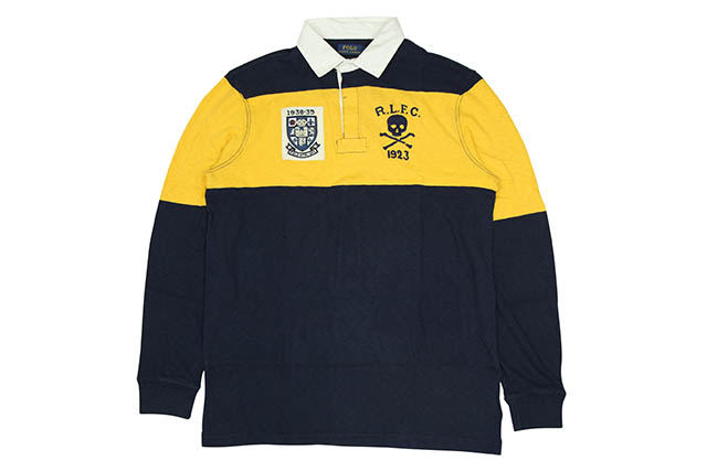 POLO RALPH LAUREN COLOR-BLOCKED RUGBY SHIRT (710718743001)ポロラルフローレン/ラグビーシャツ