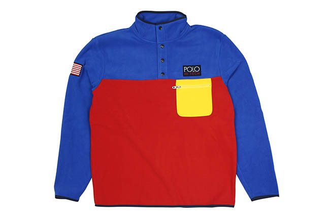POLO RALPH LAUREN HI TECH COLOR-BLOCKED PULLOVER FLEECE (710717030001)ポロラルフローレン/プルオーバーフリース