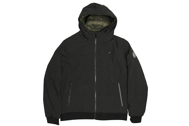 TOMMY HILFIGER INSULATED SOFTSHELL JACKET(158AP603)(BLACK)トミーヒルフィガー/ソフトシェルジャケット/ブラック