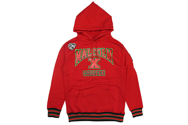 AACA FTP MALCOLM X COLLEGE CLASSIC '92 HOODIE (RED)エ―エーシーエー/プルオーバーフーディー/レッド