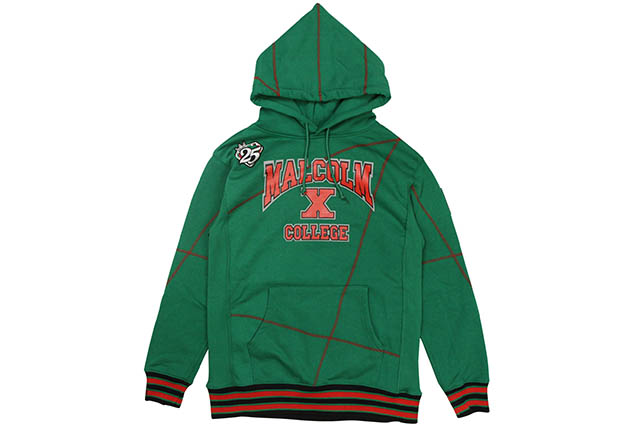 AACA MALCOLM X COLLEGE FRANKENSTEIN '92 STITCH HOODIE (KELLY GREEN)エ―エーシーエー/プルオーバーフーディー/ケリーグリーン