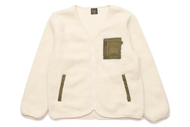 ALPHA ZIP BOA LINER JKT(TC1300-0001:OFF WHITE)アルファ/ライナージャケット/オフホワイト