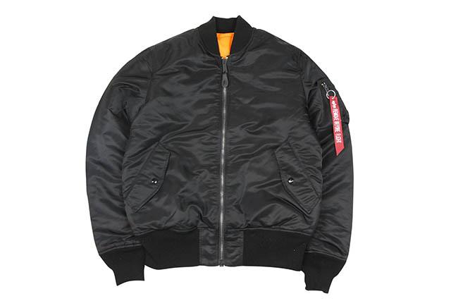 ALPHA MA-1 TIGHT JKT(20004-401:BLACK)アルファ/エムエーワンジャケット/ブラック