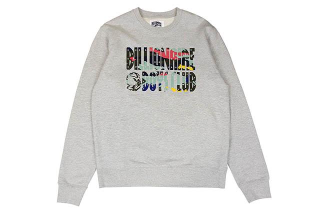 BILLIONAIRE BOYS CLUB BB FLASH CREW SWEATSHIRT (881-9305:HEATHER GRAY)ビリオネアボーイズクラブ/クルーネックスウェット/ヘザーグレー