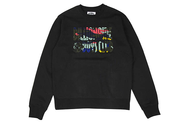 BILLIONAIRE BOYS CLUB BB FLASH CREW SWEATSHIRT (881-9305:BLACK)ビリオネアボーイズクラブ/クルーネックスウェット/ブラック