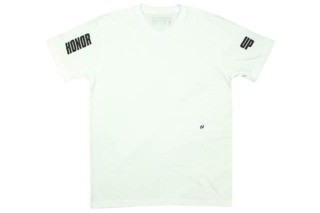 POPPINGTON×HONOR UP T-SHIRTS(WHITE)ポッピントン×アーナーアップ/ティーシャツ/ホワイト