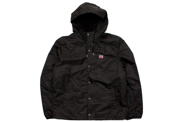 LEVI'S SHERPA LINED COACHES JACKET (LM8RN432:BLACK)リーバイス/コーチジャケット/ブラック