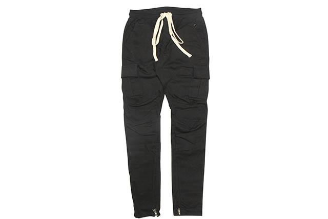 mnml CARGO DRAWCORD PANTS (P301/BLK:BLACK)ミニマル/カーゴパンツ/ブラック