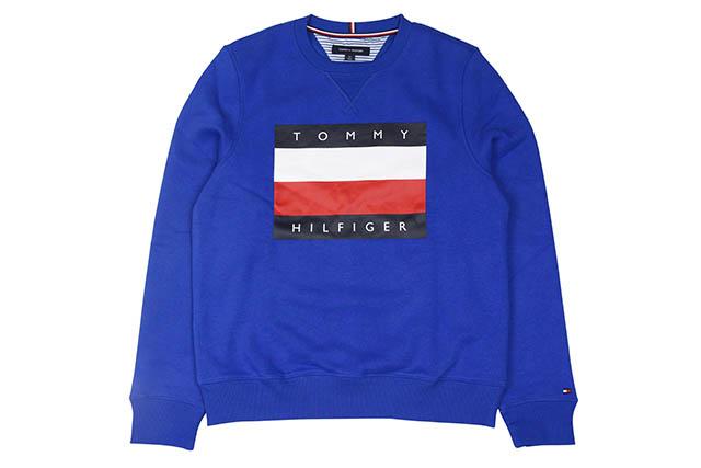 TOMMY HILFIGER FLAG LOGO CREW SWEAT(C8878C2685-084)(BLUE)トミーヒルフィガー/クルーネックスウェット/ブルー